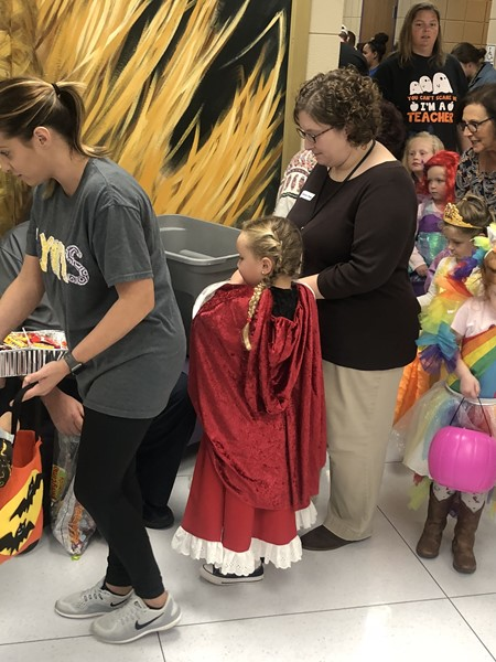 Preschool Trick or Treating with Local Community members