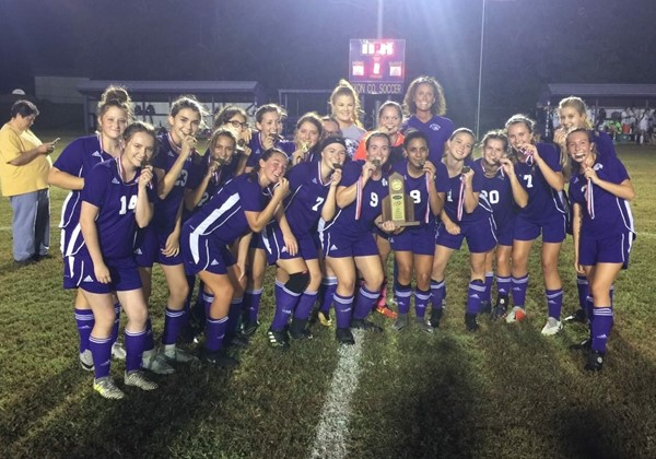 Lady Lyons Soccer 5th District Champions